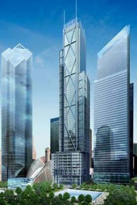 illustration of completed World Trade Center