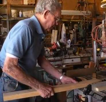 working on table saw - Storytellers for good video