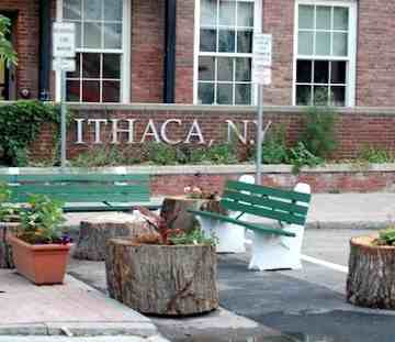 Ithaca mayor park ing space
