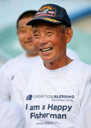 Japanese fisherman (Operation Blessing photo)