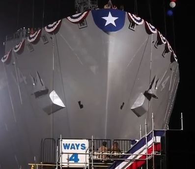 USNS Cesar Chavez launch