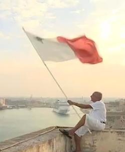 flag waving Times Of Malta Video snapshot