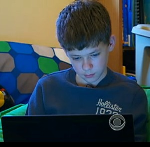 10-year-old on internet via CBS News
