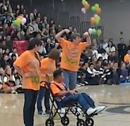 School assembly special needs dance