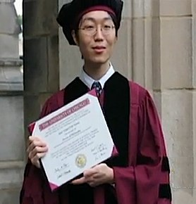 Sho Yano graduates with PhD at 19