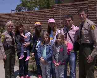 sheriffs with Swedish family