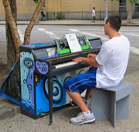 Street piano at Astor Place - by Tracy Edwards