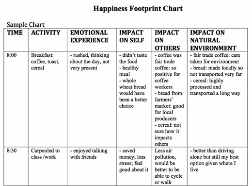 Happiness footprint chart-2
