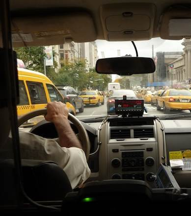 cab driver interior