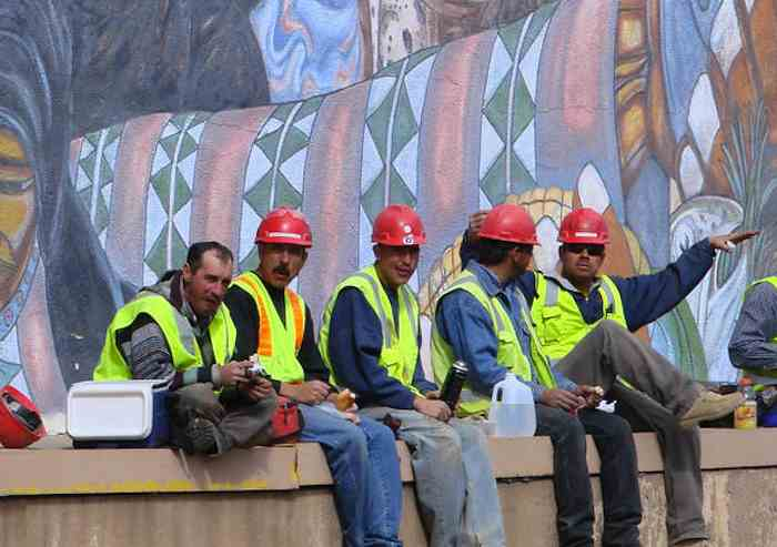 construction workers lunch-Flickr-CC-Denise~~