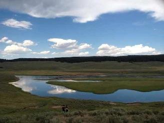 sky reflection Yellowstone stream-Horiz-MaryErickson
