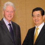 Bill Clinton w China President Hu