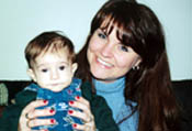 Kimberly Springer and 6-month old Adam Courtney