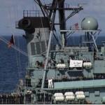 German ship, Lutgenspic, a few days after 9-11 attacks