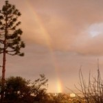 rainbow over LA
