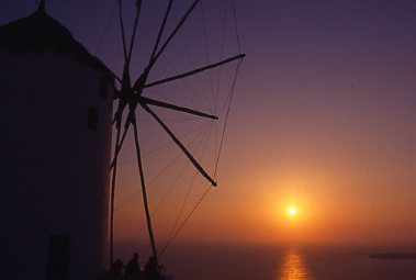 Windmill on Santorini - by Geri Weis-Corbley
