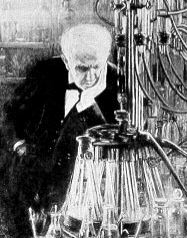 Thomas Edison thinking