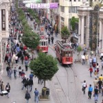 İstiklal Avenue, Istanbul, a busy pedestrian street in Turkey - courtesy of www.wowturkey.com who owns copyright