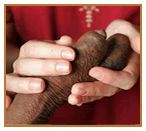 a hand for leprosy vicitims