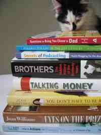 books with kitten