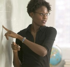 African American teacher, by cybrarian77 - CC- Flickr
