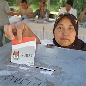 voting in Aceh, Indonesia
