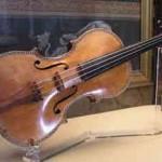 Stradivarius violin in a museum