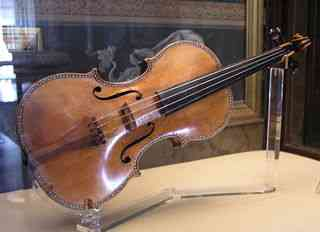 Stradivarius violin in a museum