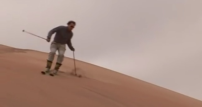 skiing-on-sand