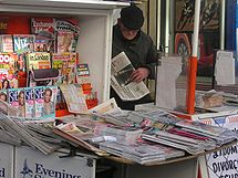 newspaper vendor