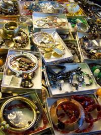gold jewelry in Harlem market, photo by geri