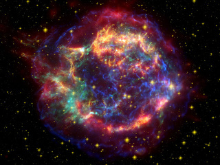 Supernova illustration, via NASA