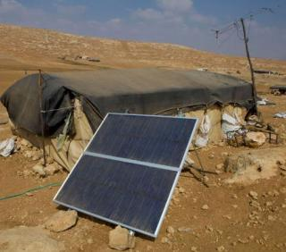 solar panel power a rural home in Palestine