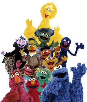 Sesame Street group - PBS photo