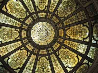 stained glass dome in Chicago