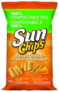 Sunchips plant-based compostable bag