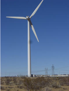 wind turbines at Victorville prison - CA