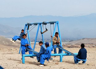 Afghan playground for school kids - UNAMA