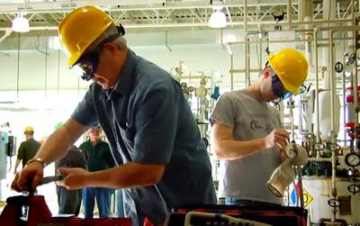 factory workers retraining for green jobs