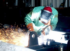 welder at Taylor Machine Works