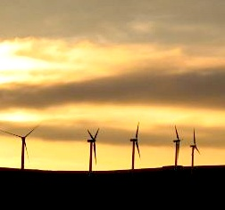 wind-turbines-sunset Photo by David Loudon via Morguefile.com