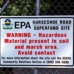 EPA posted sign:hazardous material