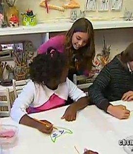 Tae Tae's art party for homeless, CBS video still