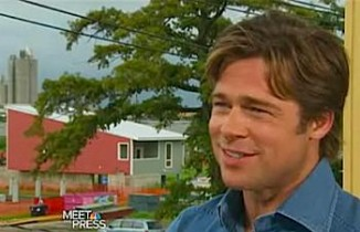 Brad Pitt in front of homes he built for New Orleans - NBC video snapshot