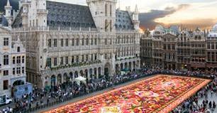Flower carpet at Grand-Place, Brussels, Belgium