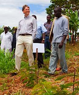 Bill Gates Foundation with farmers in Africa