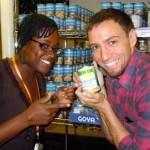 Trey Morgan helps at a food bank - courtesy photo
