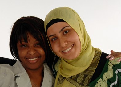 Hartford Seminary photo of Christian and Muslim women