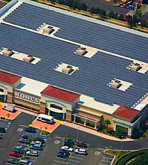 solar panels on Kohl's roog