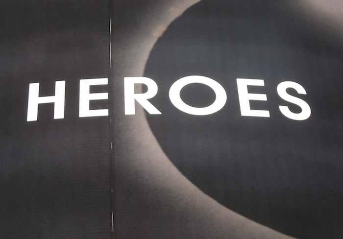 'Heroes' written on a billboard